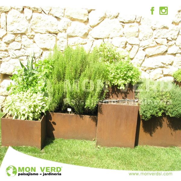 Utilizaci n del acero dise o de jardines valencia jardiner a y paisajismo - Paisajismo valencia ...