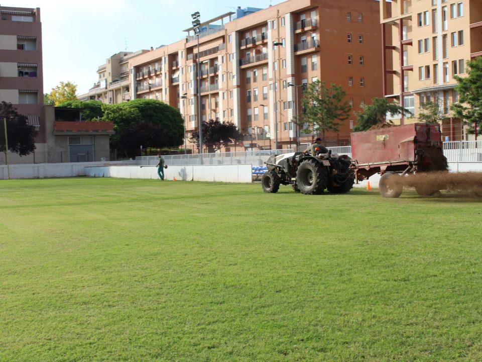 Restauraciones en campos de futbol